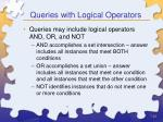 queries with logical operators