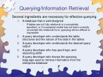 querying information retrieval