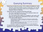 querying summary