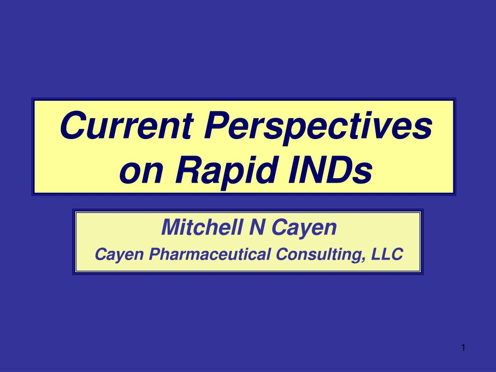 current perspectives on rapid inds l.