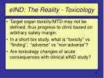 eind the reality toxicology