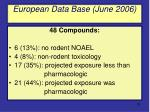 european data base june 2006