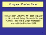 european position paper