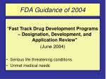 fda guidance of 2004