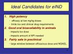 ideal candidates for eind
