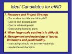 ideal candidates for eind60