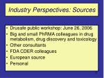 industry perspectives sources