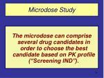 microdose study