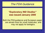 the fda guidance