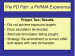 the pd path a phrma experience40