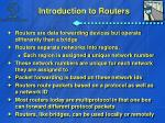 introduction to routers