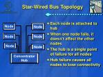 star wired bus topology