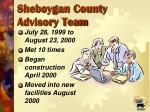 sheboygan county advisory team20