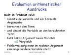 evaluation arithmetischer ausdr cke