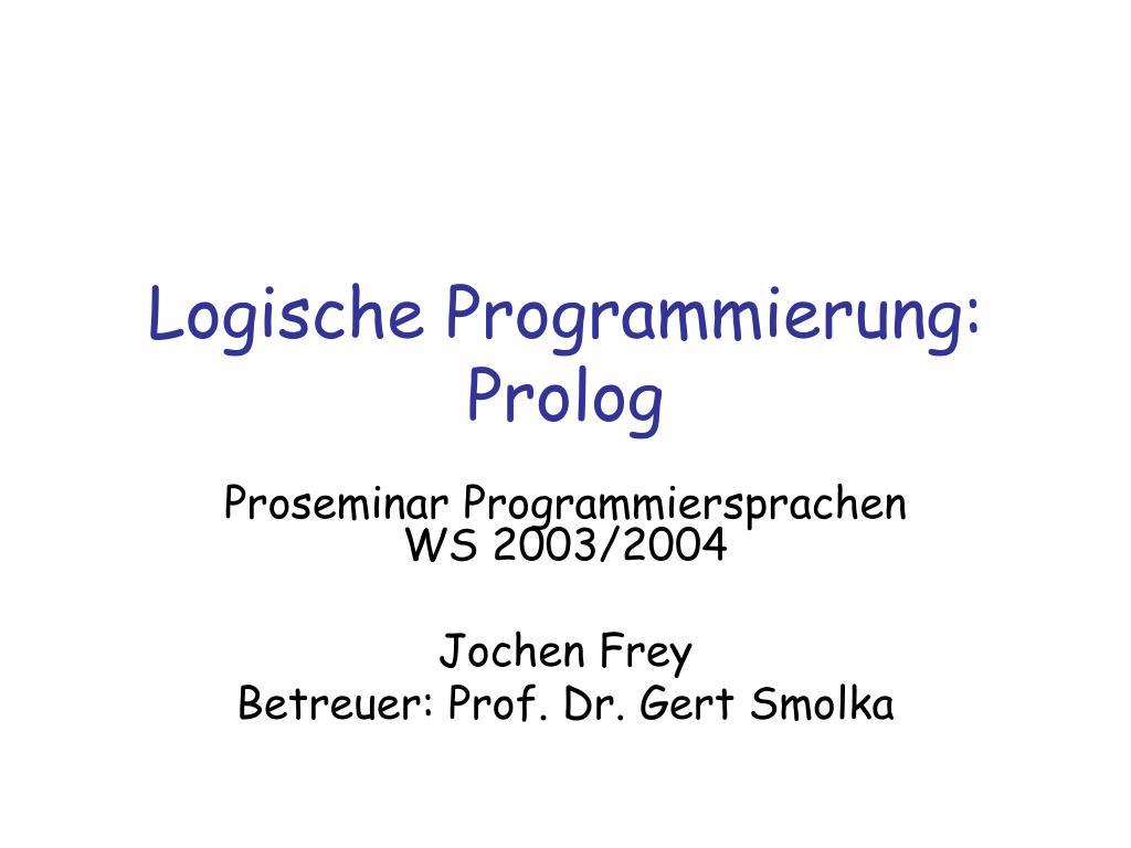 logische programmierung prolog l.