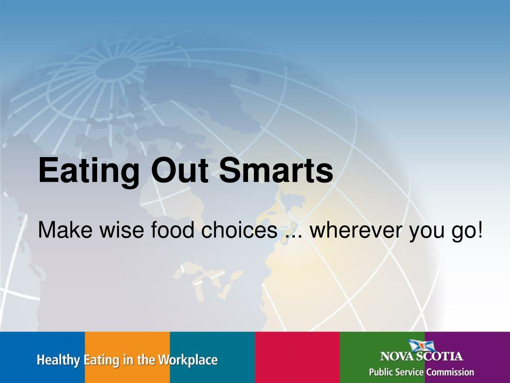 make wise food choices wherever you go l.