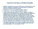 ancient greek ideas on political equality