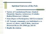 spiritual universe of the polis