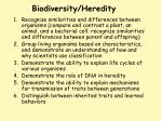 biodiversity heredity