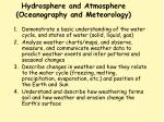 hydrosphere and atmosphere oceanography and meteorology
