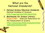 what are the national standards21