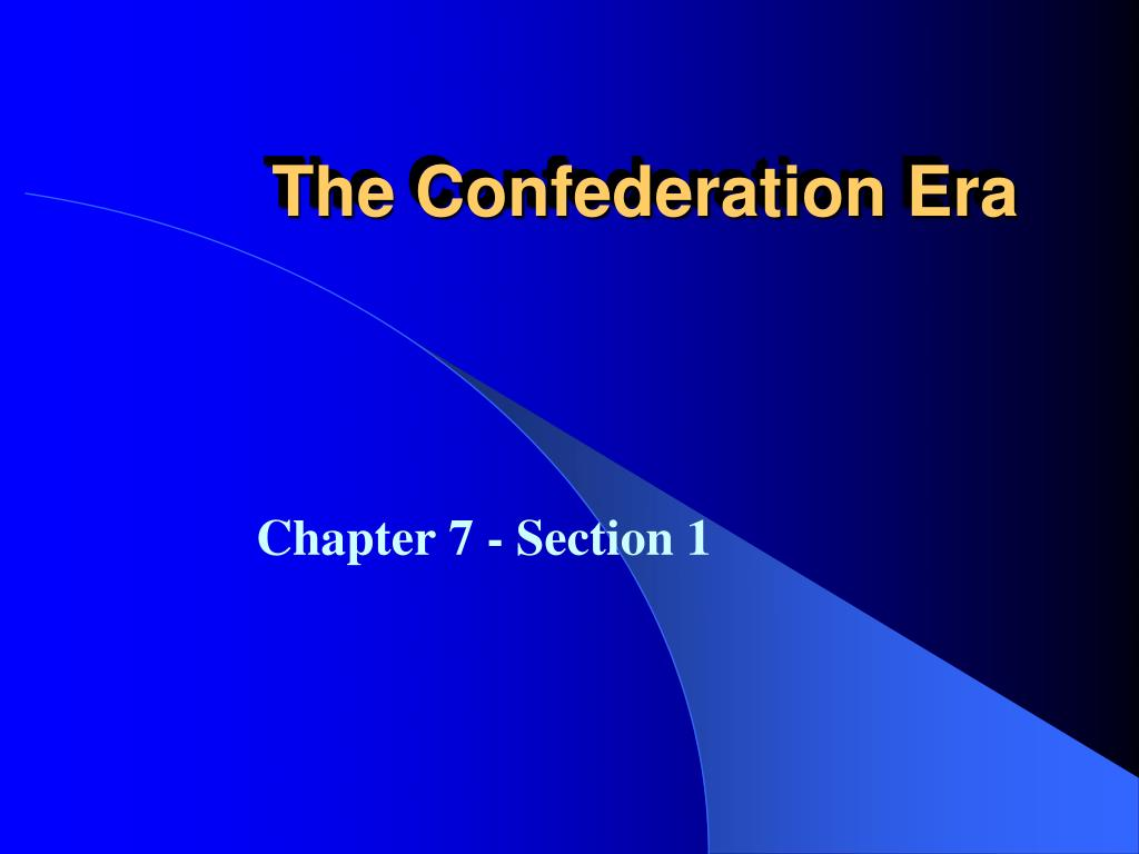 the confederation era l.