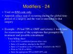 modifiers 24