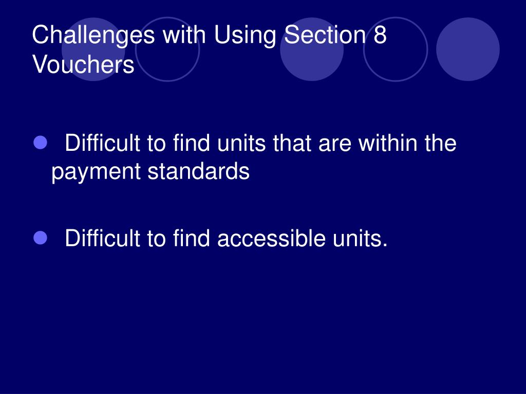 Challenges with Using Section 8 Vouchers