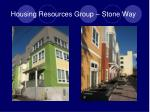 housing resources group stone way