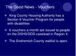 the good news vouchers