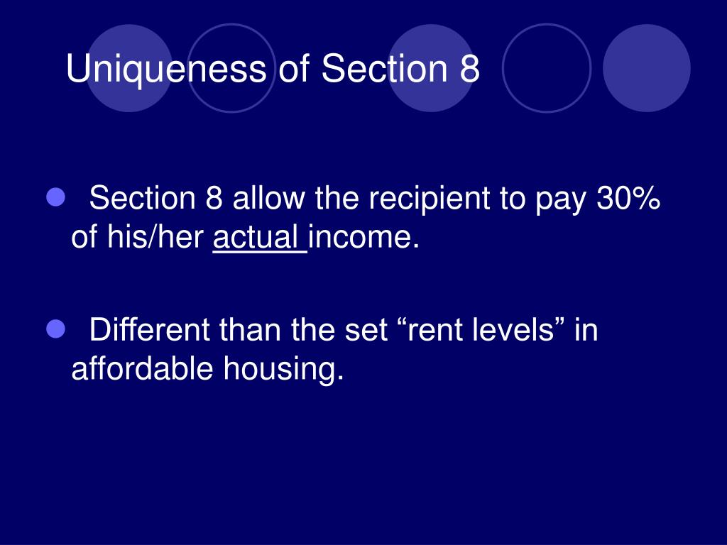 Uniqueness of Section 8