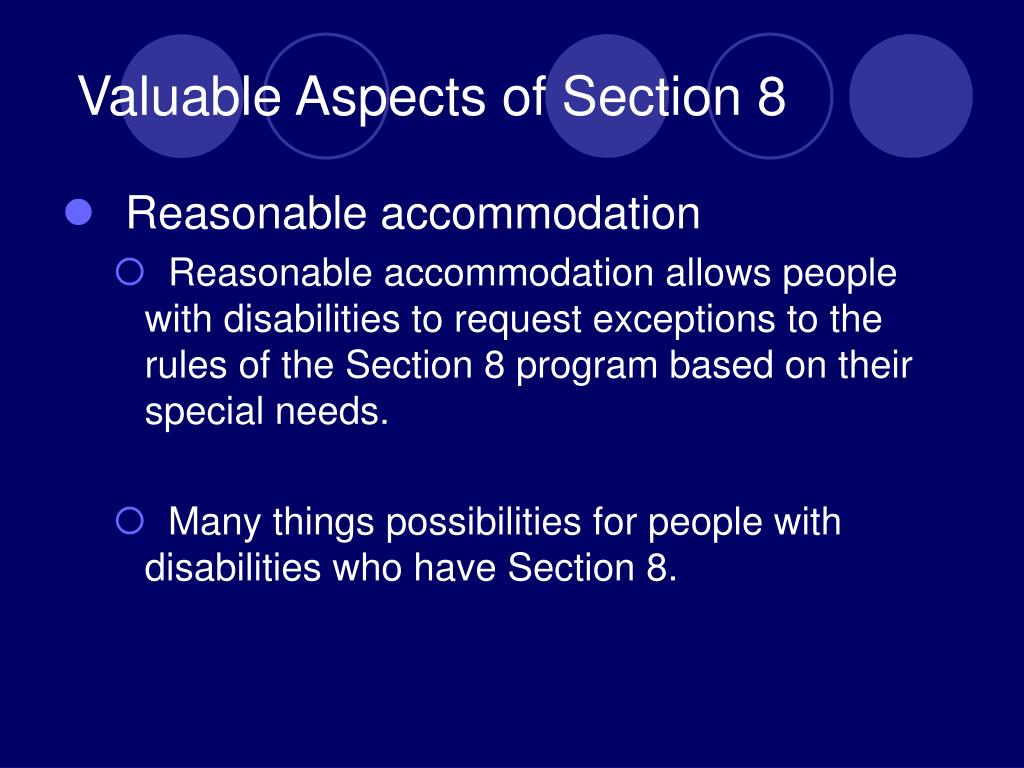 Valuable Aspects of Section 8