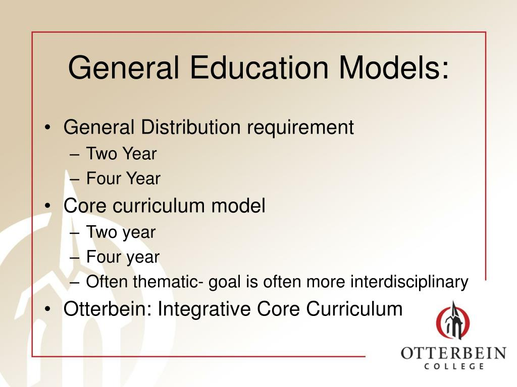 General Education Models:
