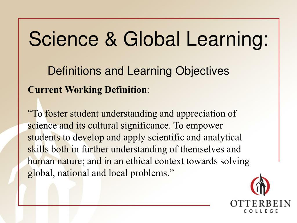 Science & Global Learning: