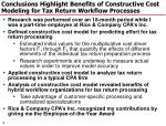 conclusions highlight benefits of constructive cost modeling for tax return workflow processes