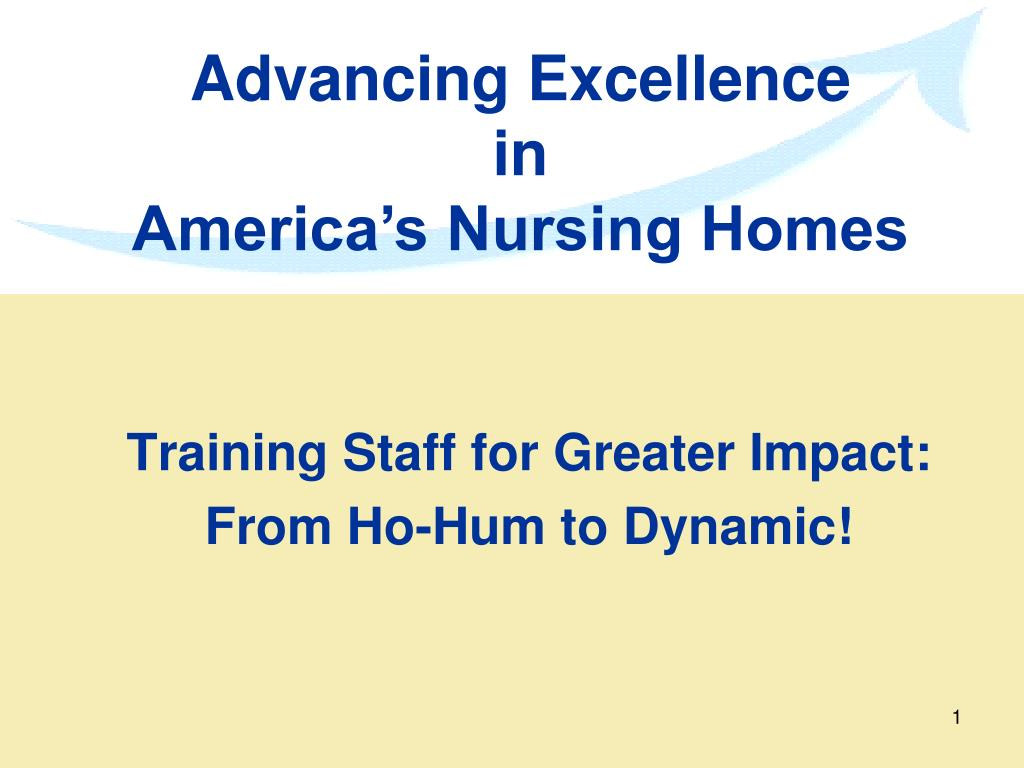 training staff for greater impact from ho hum to dynamic l.