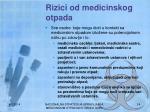 rizici od medicinskog otpada
