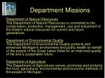 department missions