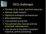 deq challenges