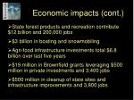 economic impacts cont