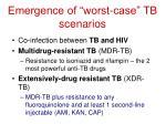 emergence of worst case tb scenarios