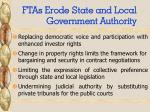 ftas erode state and local government authority