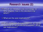 research issues 2