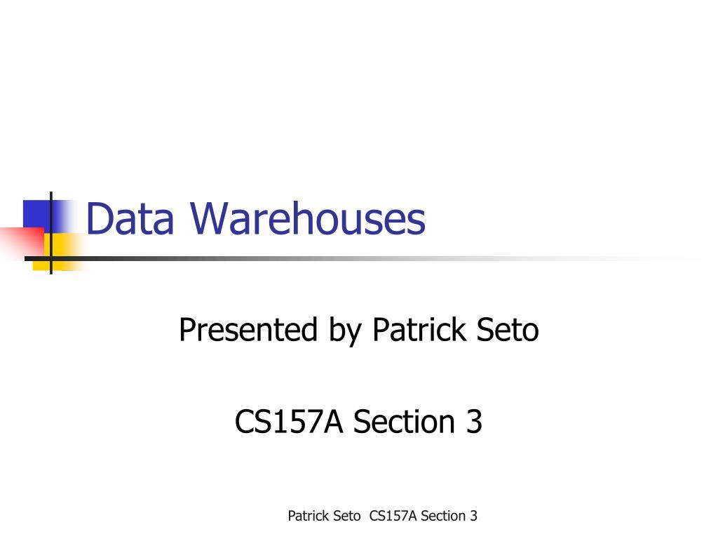 data warehouses l.