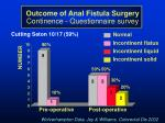 outcome of anal fistula surgery continence questionnaire survey16
