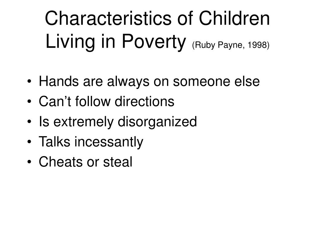 Characteristics of Children Living in Poverty