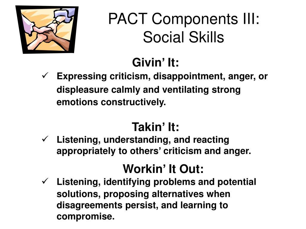 PACT Components III: Social Skills