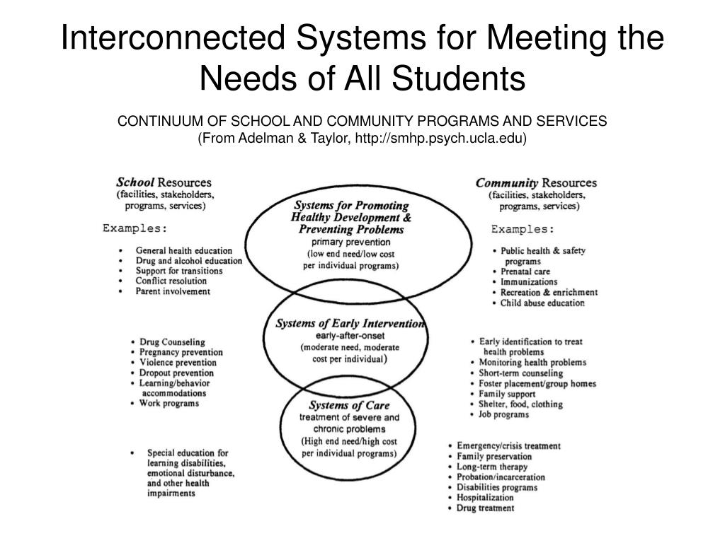 Interconnected Systems for Meeting the Needs of All Students