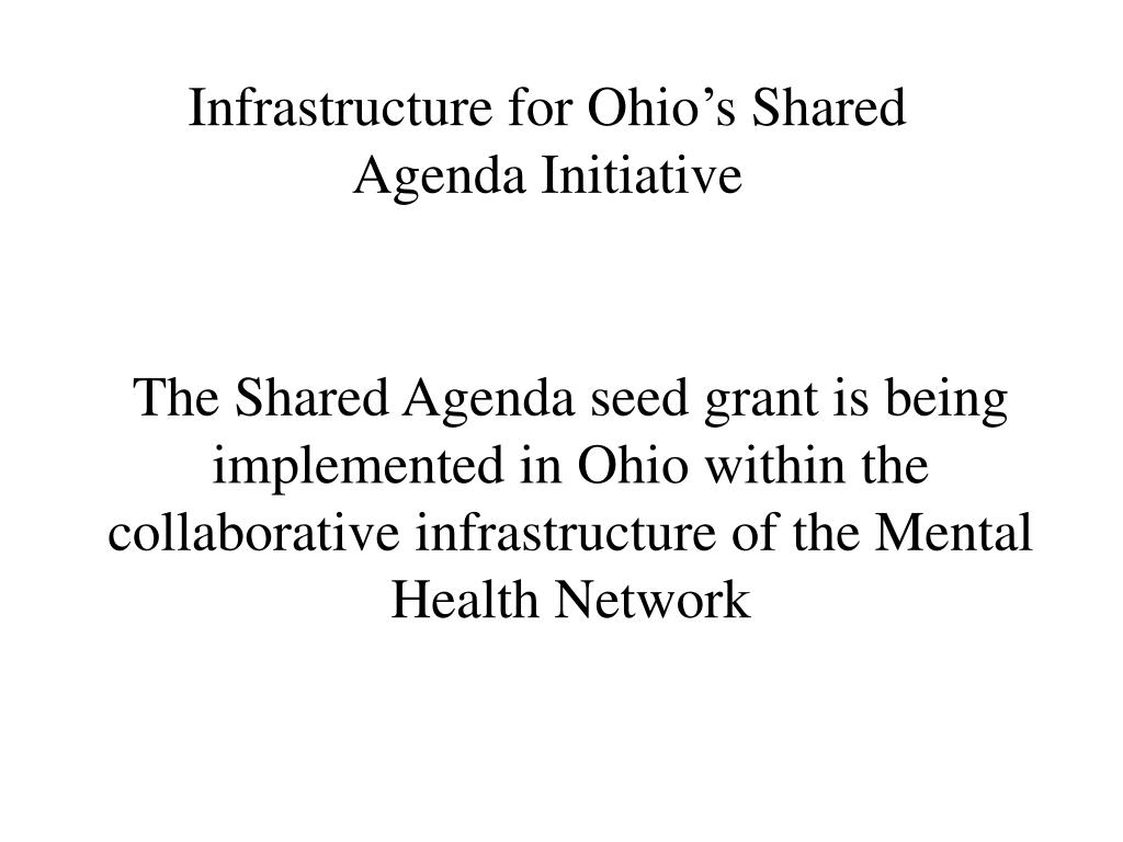 Infrastructure for Ohio's Shared