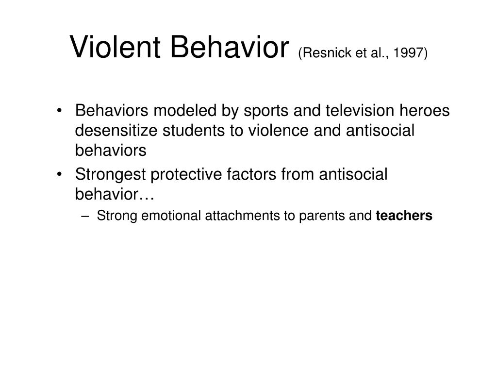 Violent Behavior